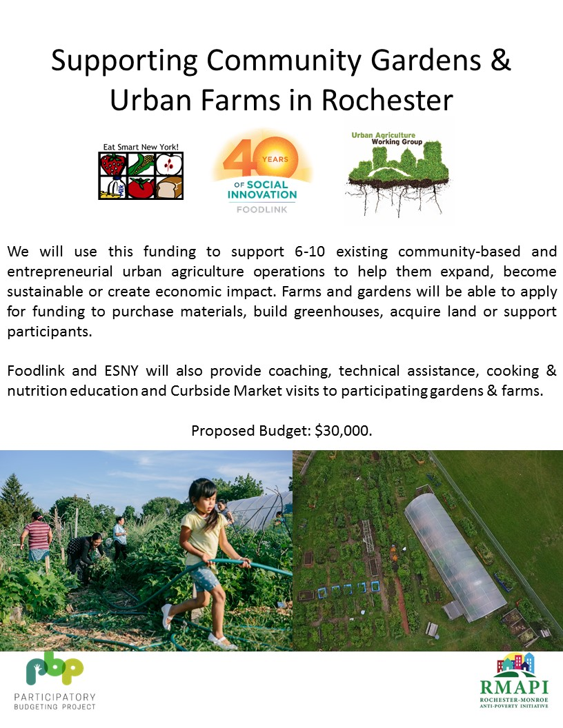 Image for Supporting Community Gardens and Urban Farms in Rochester