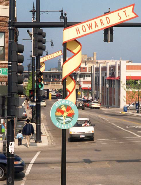 Image for Add 17 Artistic Street Signs Along Clark Street