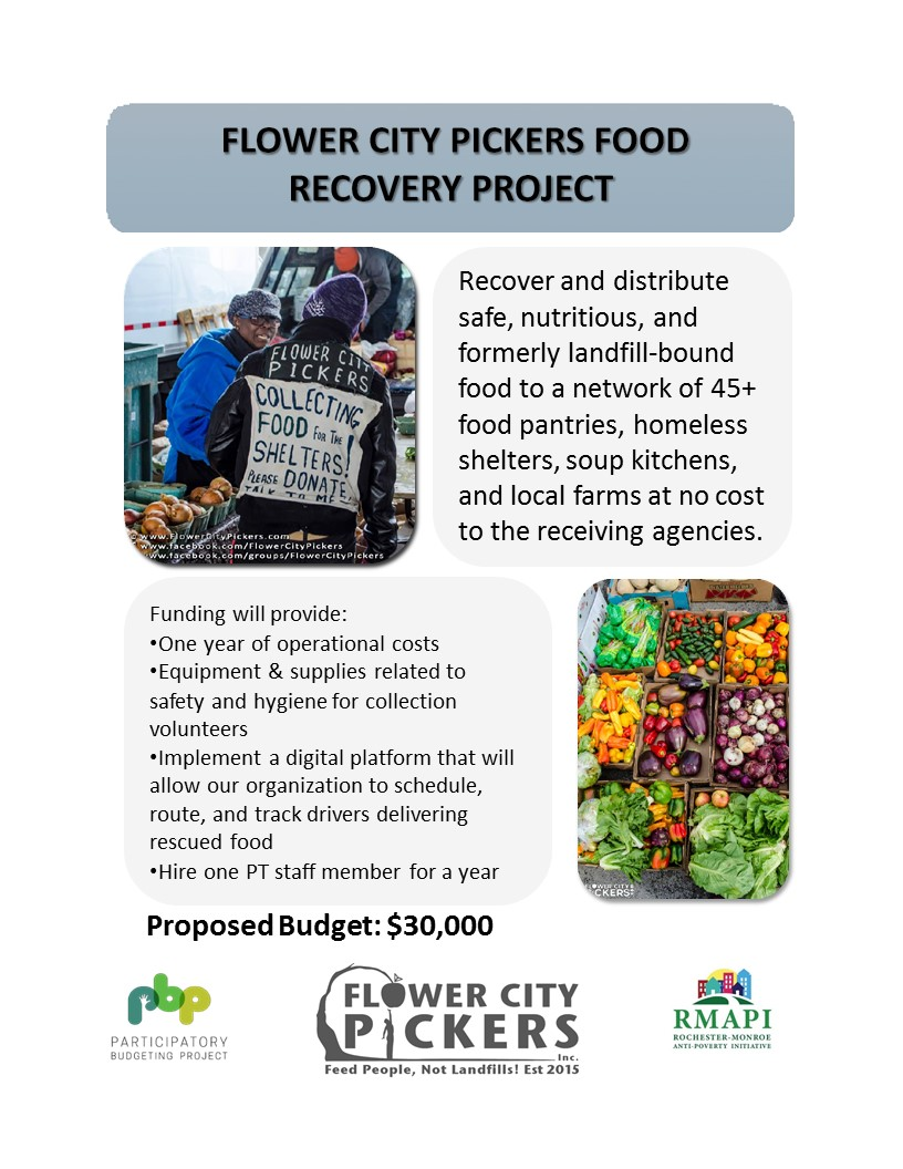 Image for Feed People, Not Landfills: Flower City Pickers Food Recovery